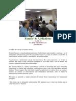 Family and Addiction. Outreach