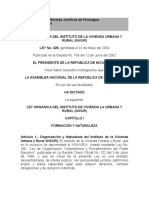 Ley 428 Ley Organica Del Invur