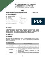 Silabo Medicina Física y Rehabilitación 2016-II