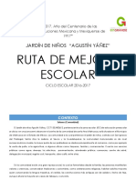 Ruta de Mejora Preescolar Agustin Yañez