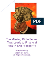 The Missing Bible Secret That Leads to Financial Health Prosperity