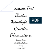 wisconsin fast plants observations