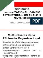 Eficiencia Organizacional y Cambio Estructural