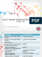 Guide in Donor Selection