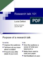Idea ResearchPresentation