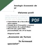 Prezentarea Scolii Liceul Economic de Turism Iasi
