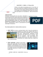 CASE STUDY 3- 2016 Cyber Security