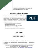 CNC Per Scultura Corso CFP Vantini