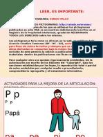 Actividades Mejora Fonema p