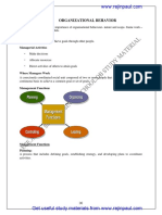 Organizational Behavior Notes Rejinpaul