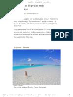 'Turquesômetro'_ as 10 Praias Mais Turquesas Do Mundo