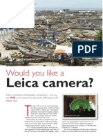 Win a Leica camera with tlm - the travel & leisure magazine May 2010