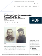 Dear President Trump_ Our Grandparents Were Refugees. This is Their Story
