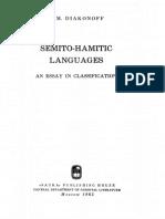 Diakonoff - Semito-Hamitic Languages
