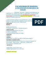 Invitación Al Diplomado de Ingenieria Geotecnica Con Mención en Mecanica de Suelos