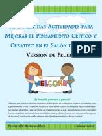 12 Divertidas Actividades MejorarPensamiento CríticoCreativo