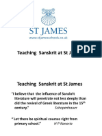 Confluence Presentation Sanskrit @ St James