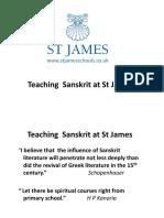 Confluence Presentation Sanskrit @ St James