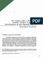 ALMEIDA, Paulo Roberto de. Os Estudos Sobre o Brasil Nos Estados Unidos
