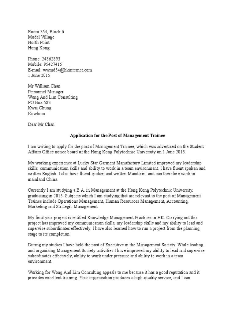 Application Letter Docx | Standard Chinese | Résumé