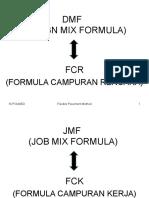 JMF Dan Pelaksanaan Aspal