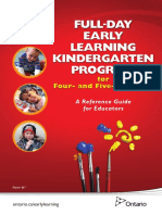 Full-Day Early Learning Kindergarten Program for Four- And Five-Year-Olds - A Reference Guide for Educators (Ontario, Canada)