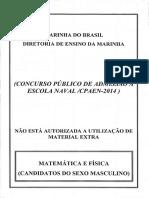 Cpaen 2014 Matemática e Física Masculino Verde