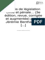 Bentham, Jeremy, Traités de législation civile et pénale, t. III, 1830