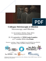Arts Et Al. - 2016 - Colloque Stéréoscopie Et Illusion Stereoscopy and Illusion Stéréoscopie Et Illusion-Annotated