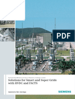 Solutions for Smart and Super Grids Using FACTS & HVDC