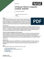 Tensile Testing of Polymer Matrix Composite Materials ASTM D3039, D3039M