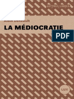 La Médiocratie - Alain Deneault