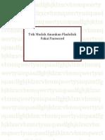 Trik Mudah Amankan Flashdisk Pakai Password