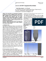 CFD Analysis of a 210 MW Tangential Fired Boiler