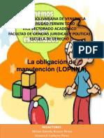 La Obligación de Manutención (LOPNNA)