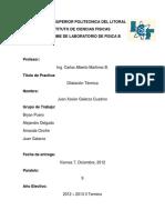 Dilatacfion Rrabajo Monografico Informe de Laboratoirio