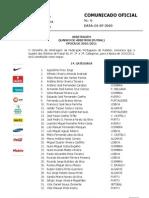 CO006 Quadro Arbitros Futsal Epoca 2010