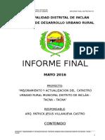 Informe Final Catastro - Memoria Corregida