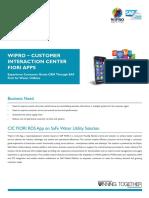 Wipro Customer Interaction Center FIORI Apps