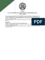 Acto Notarial Divorcio Por Incompatibilidad de Caracteres