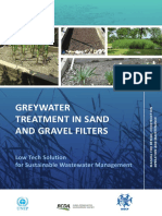 GREYWATER TREATMENT IN SAND AND GRAVEL FILTERS