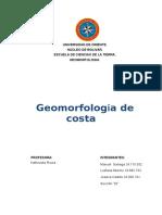 Trabajo de Geomorfologia de Costa