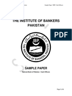 NBP Cash Officer Sample Paper Revised