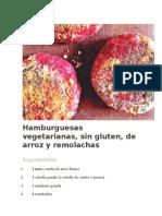 Hamburguesas Vegetarianas Con Remolacha