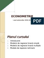 Curs4. Econometrie Regr Neliniare