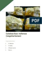 Calabacitas Rellenas