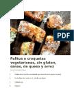 Palitos o Croquetas Vegetarianas