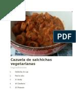 Cazuela de Salchichas Vegetarianas