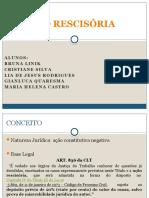 AÇÃO RESCISÓRIA. apresentação