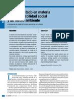 El Rol Del Estado en Materia de Responsabilidad Social y de Medio Ambiente. Milán, Rosa y Villarroel